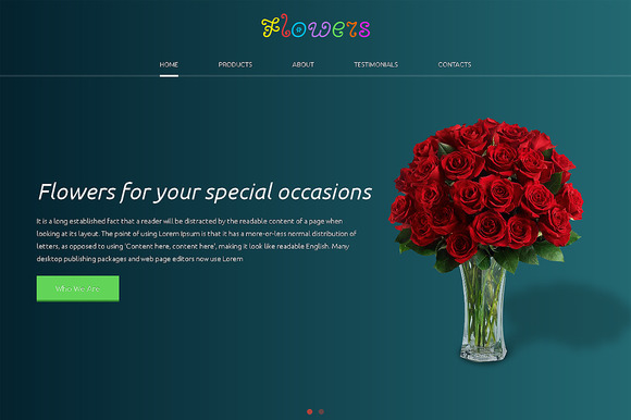 Flowers Responsive One Page Theme - HTML/CSS - 1