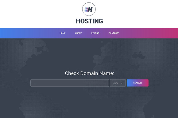 Hosting Responsive One Page Theme - HTML/CSS - 1