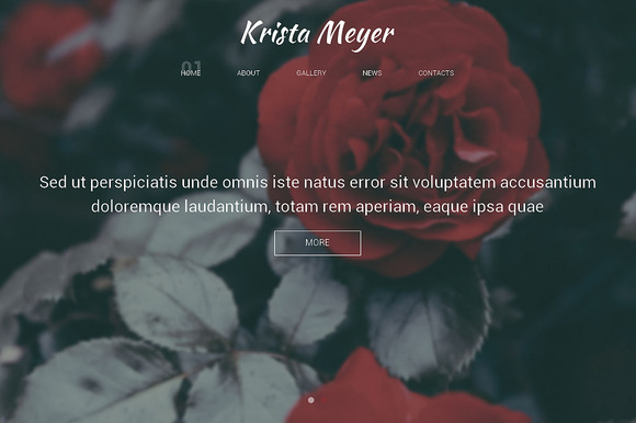 Krista Meyer One Page Theme - HTML/CSS - 1