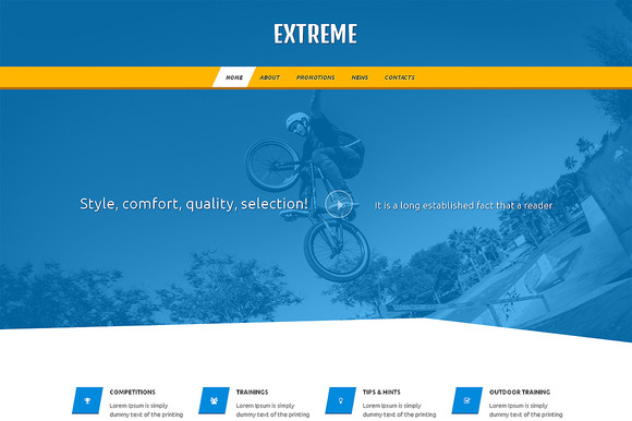 Extreme Responsive One Page Theme - HTML/CSS - 1