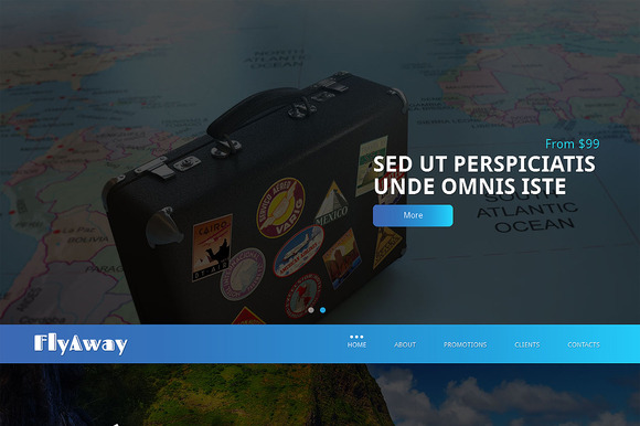 Fly Away Responsive One Page Theme - HTML/CSS - 1