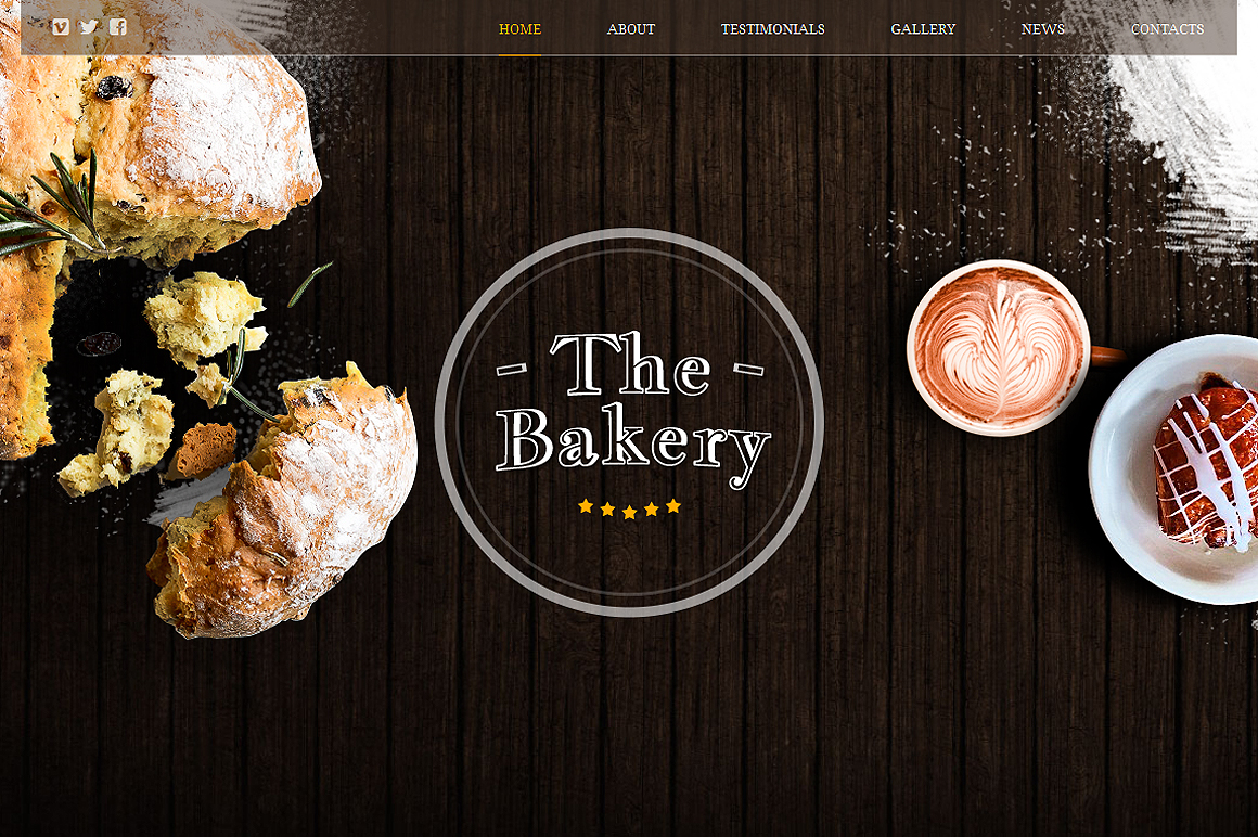 The Bakery Responsive One Page Theme ~ HTML/CSS Themes on