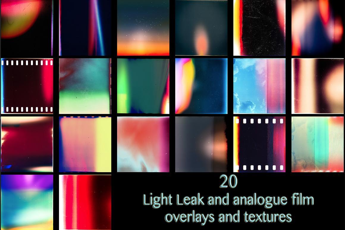 20 Light Leak Texture Overlays ~ Textures on Creative Market