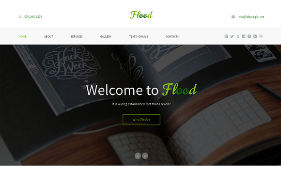 Flood Responsive One Page Theme - Websites - 1