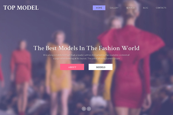 Top Model Responsive One Page Theme - Websites - 1