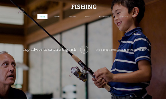 Fishing One Page Template - Websites - 1