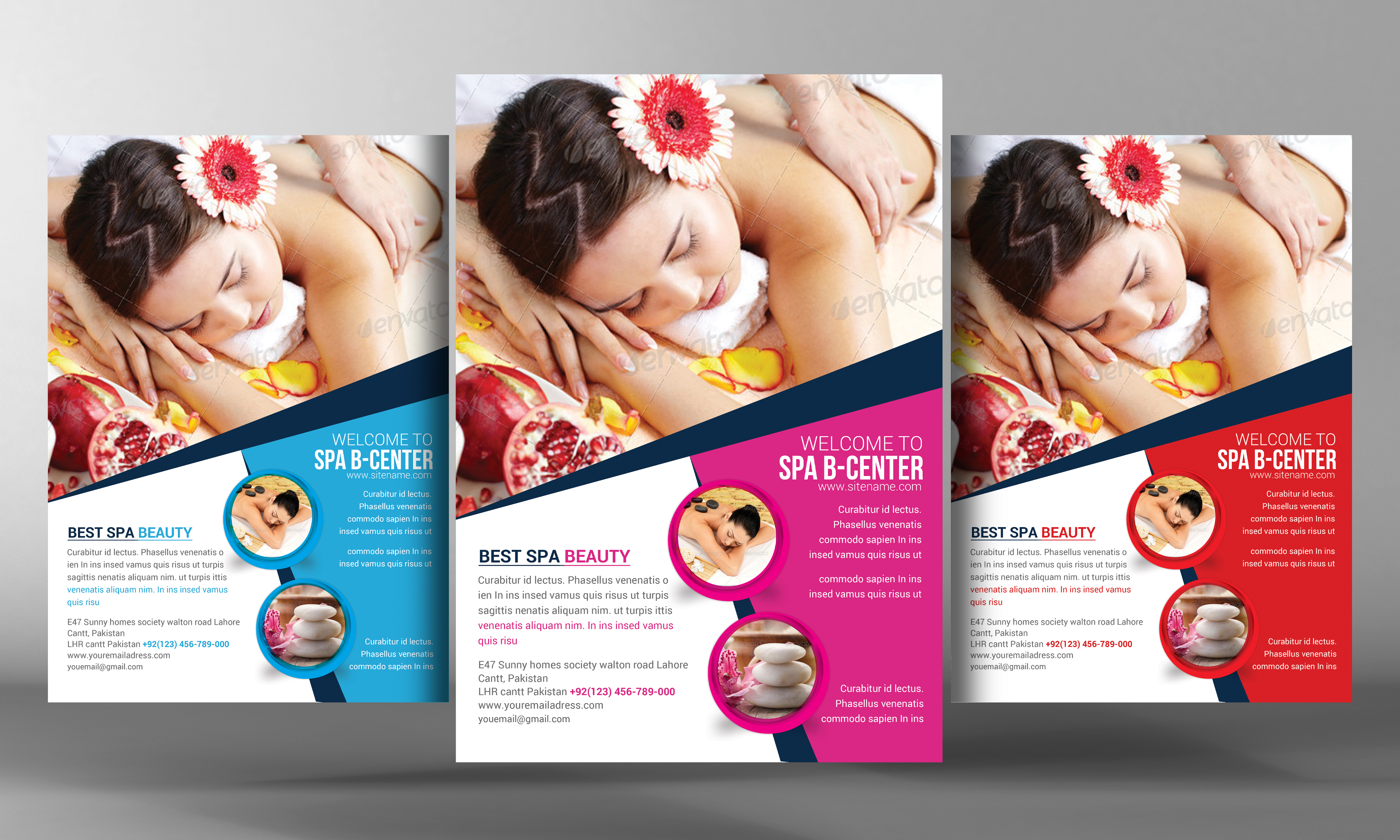 Spa beauty flyer template flyer templates on creative market for Beauty brochure templates free