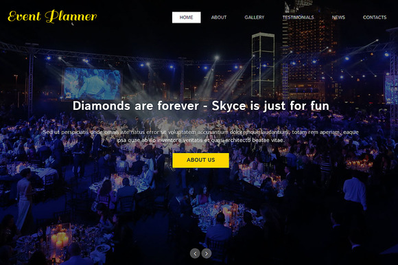 Event Planner One Page Theme - Websites - 1