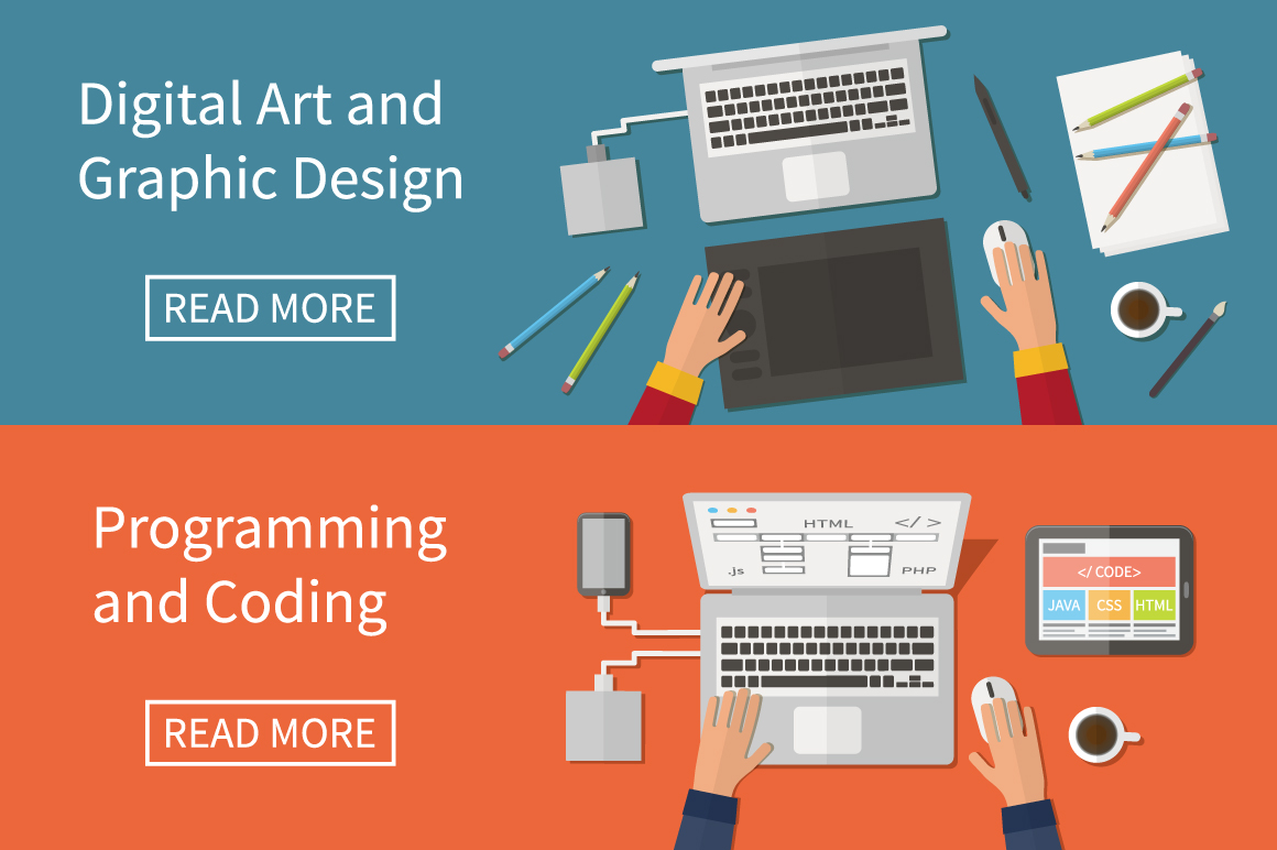 Graphic Web Design Programming Illustrations On