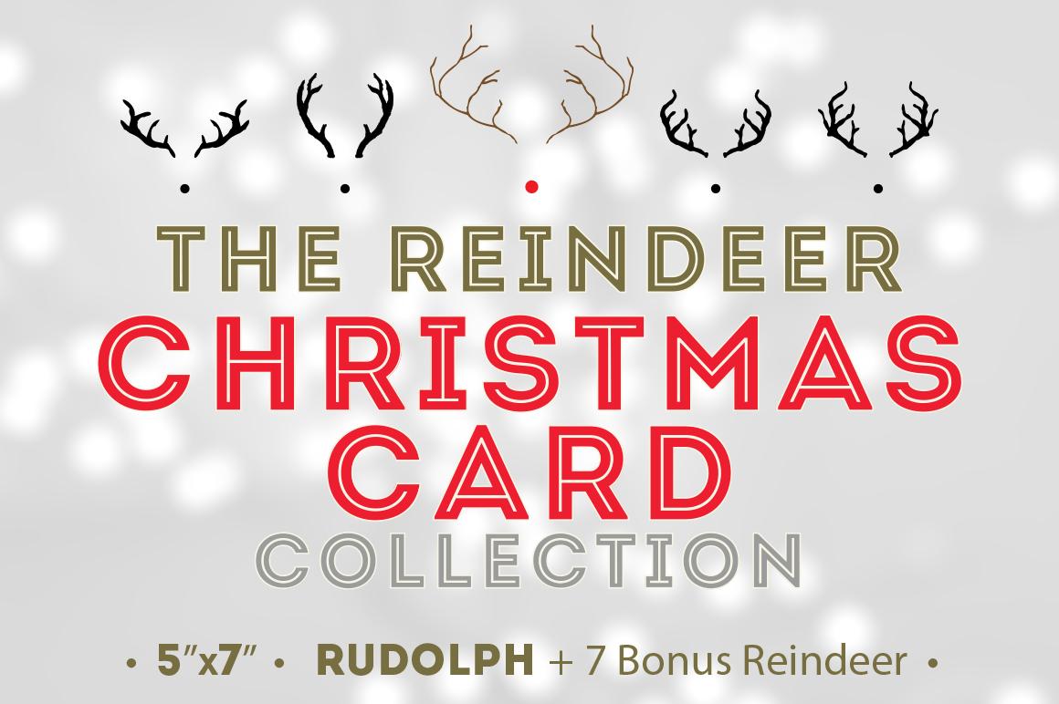 Reindeer Christmas Card   7 Bonus   Card Templates on Creative Market KmWbFfHz