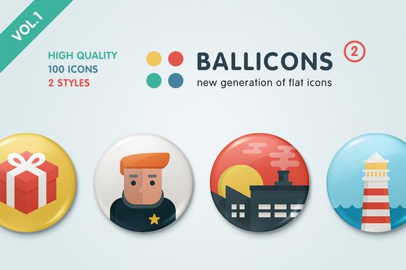 Ballicons 2 Vol.1 - flat icon set - Icons