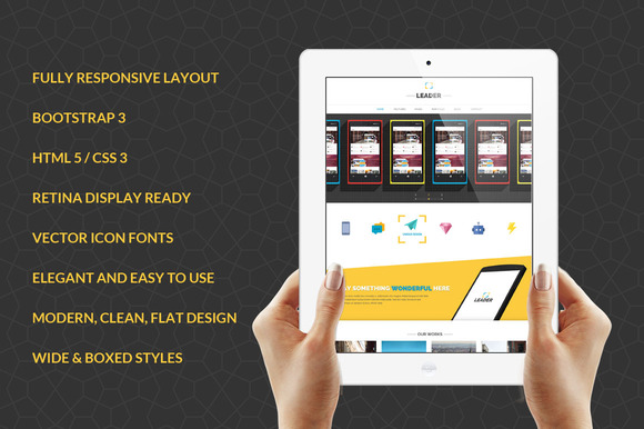 Leader Responsive Bootstrap Template - Bootstrap - 1