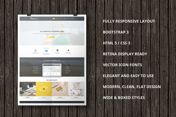 Freedom Bootstrap Template - Bootstrap - 1