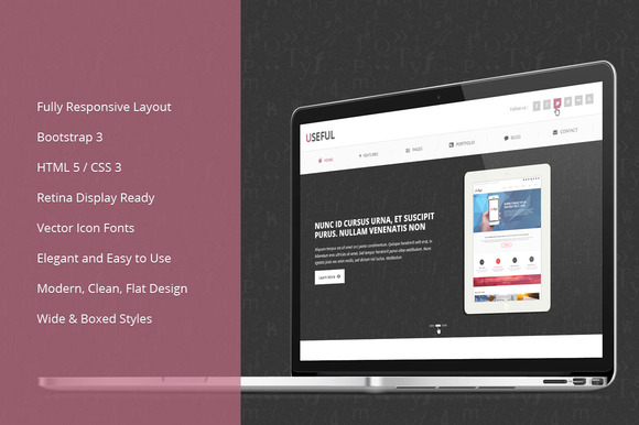 Useful Bootstrap Responsive Theme - Bootstrap - 1