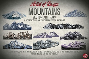 Mountains Vector Art Pack