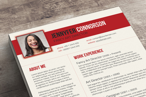 fancy resume  u0026 cover letter