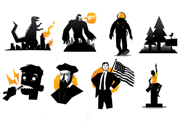 Set Of Mosters And Humans Vector