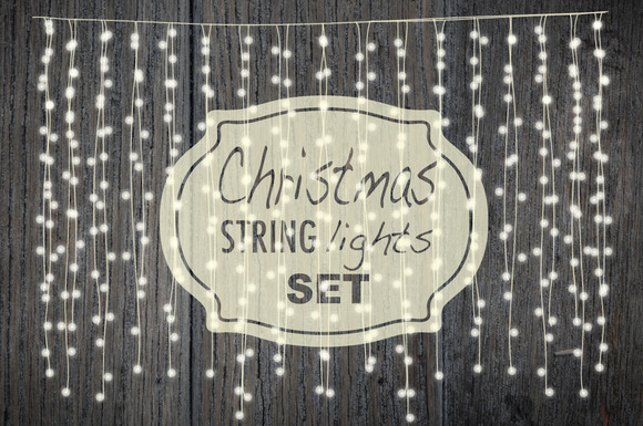 Christmas string lights set ~ Objects on Creative Market