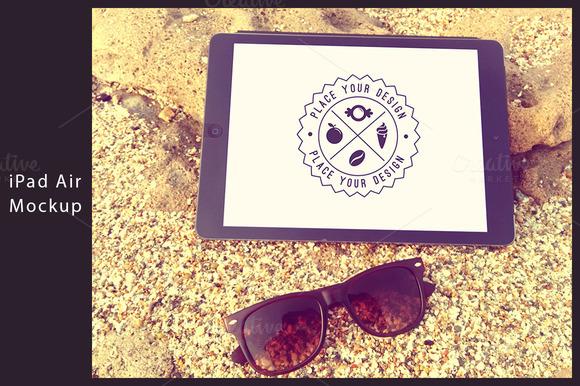 IPad Air Beach Mockup