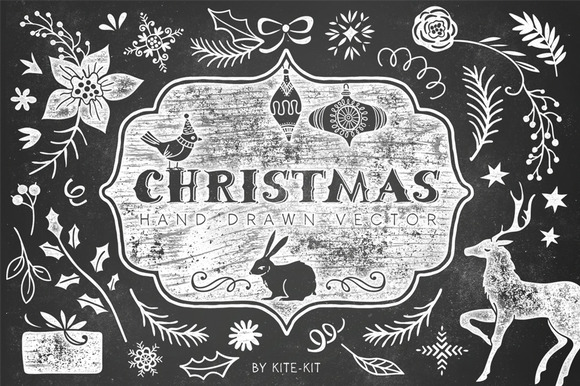Christmas hand drawn pack - Illustrations - 1