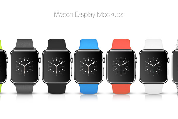 iWatch Display Mockups - Product Mockups - 1