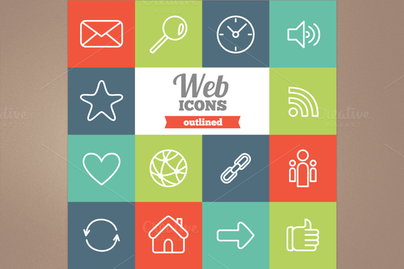Outlined Web Icons