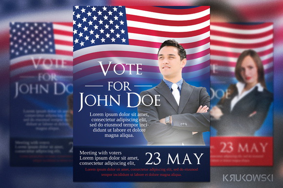 voting flyer templates free - presidential election poster psd designtube creative