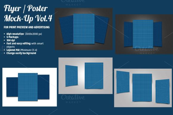 Flyer / Poster Mock-Ups Vol. 4 - Product Mockups - 1
