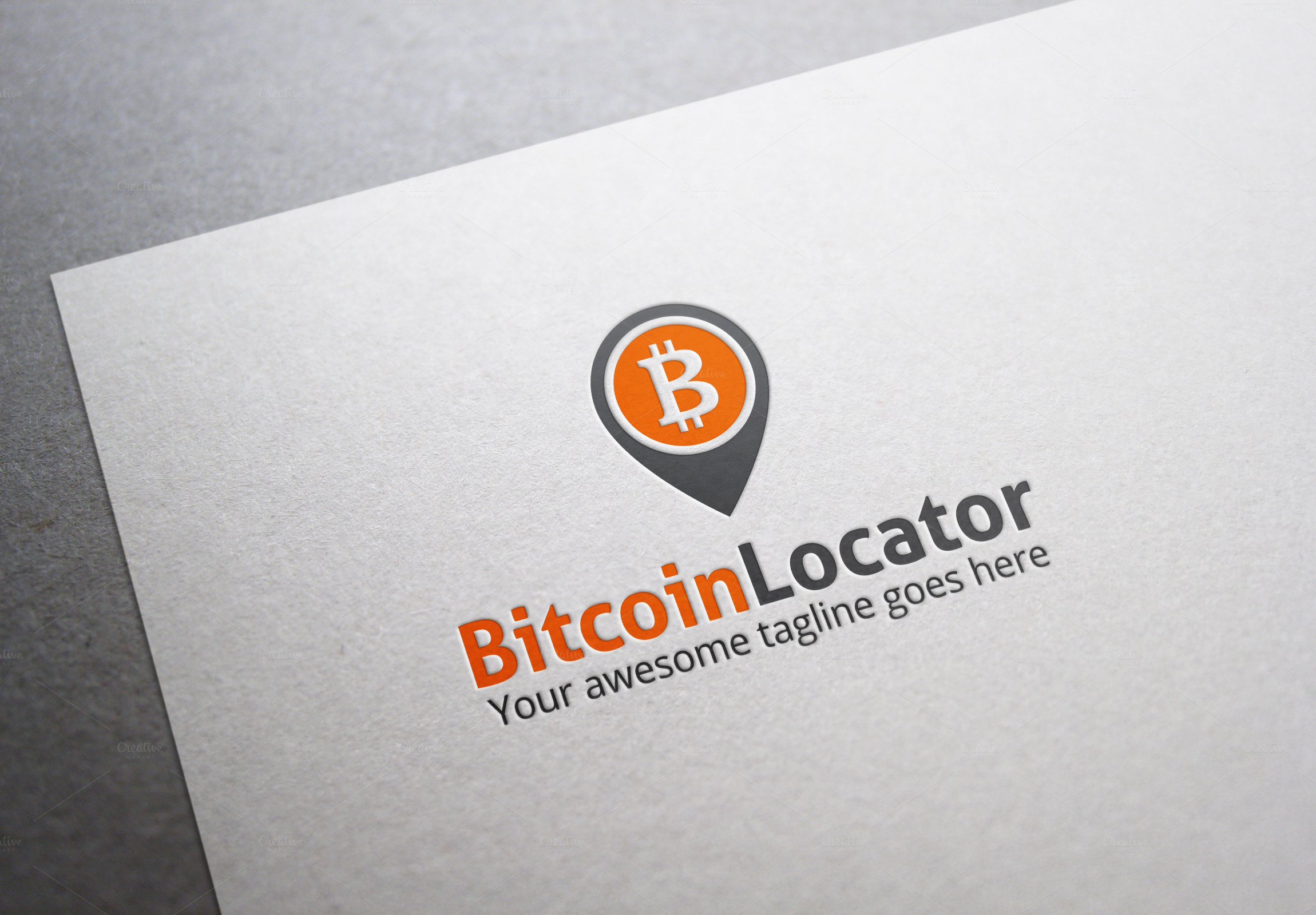 bitcoin locator logo logo templates on creative market