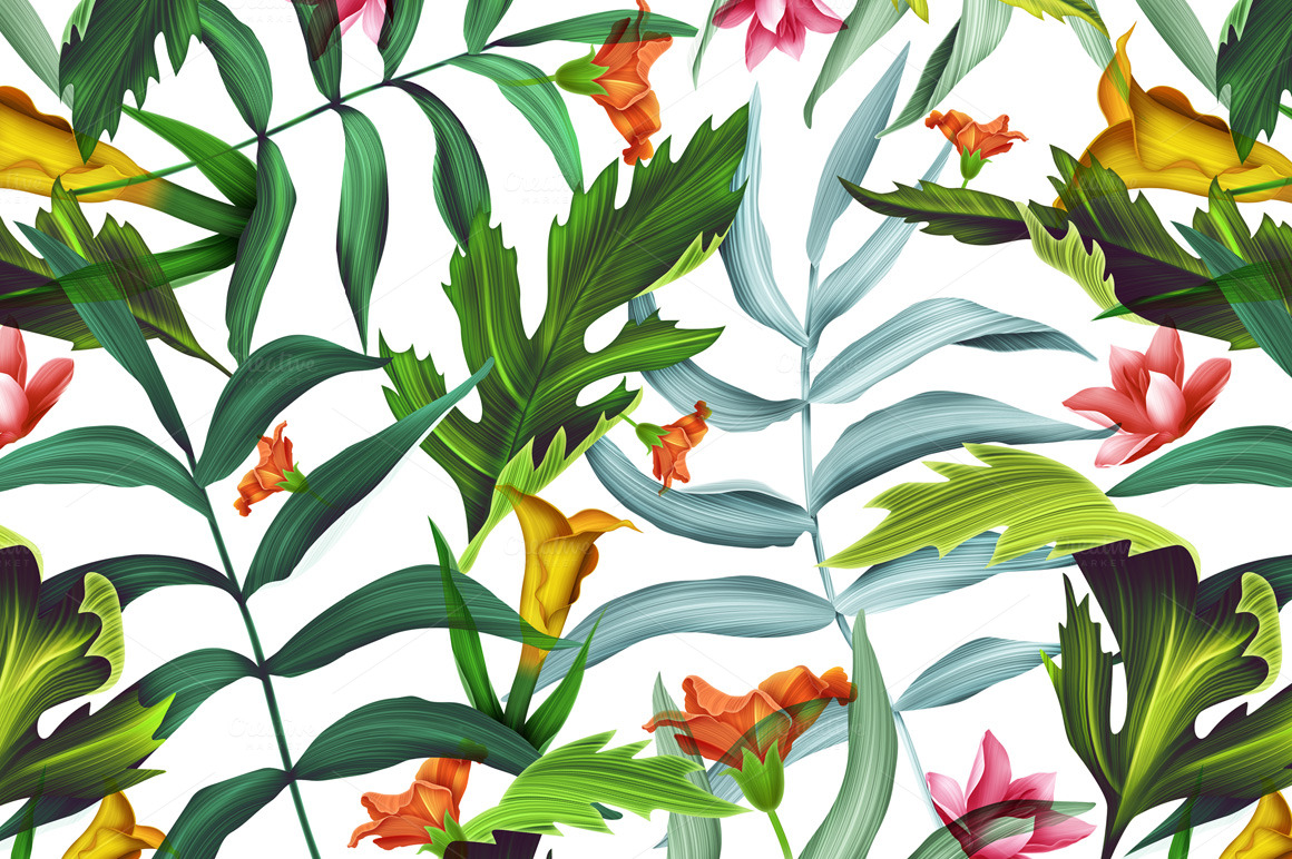 tropical wallpaper pattern - photo #44