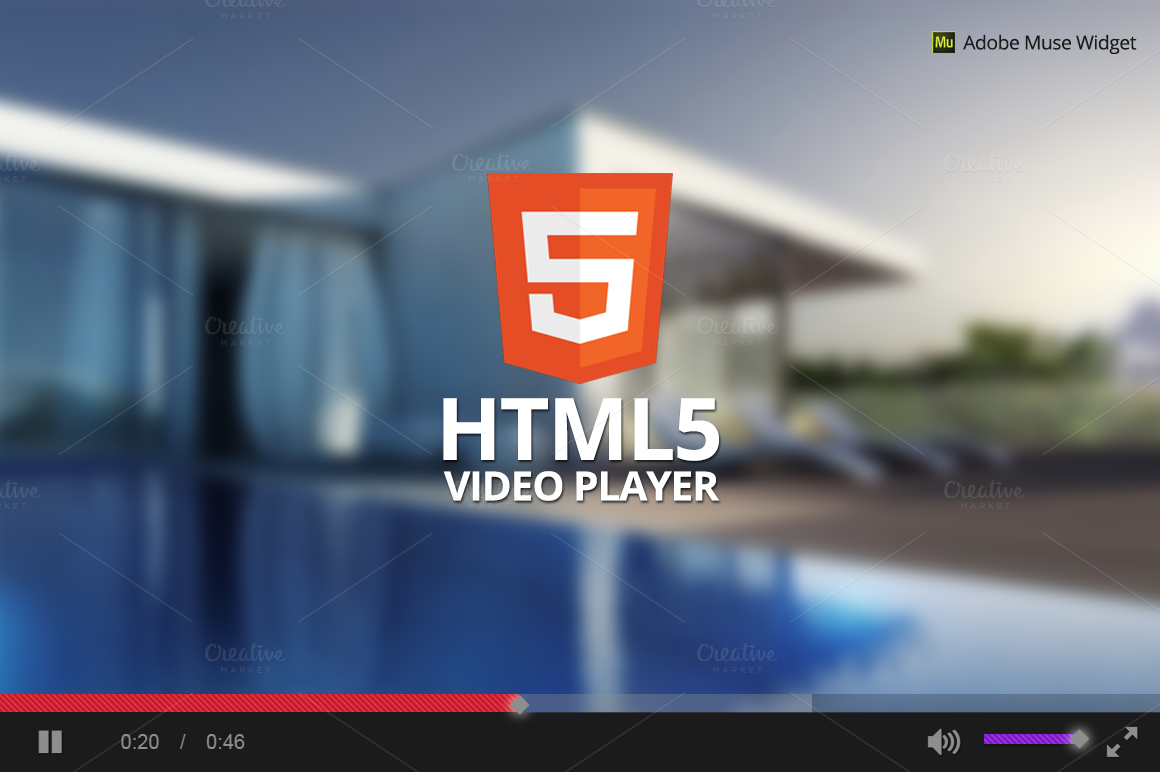 Html5 player for Html5 video player template