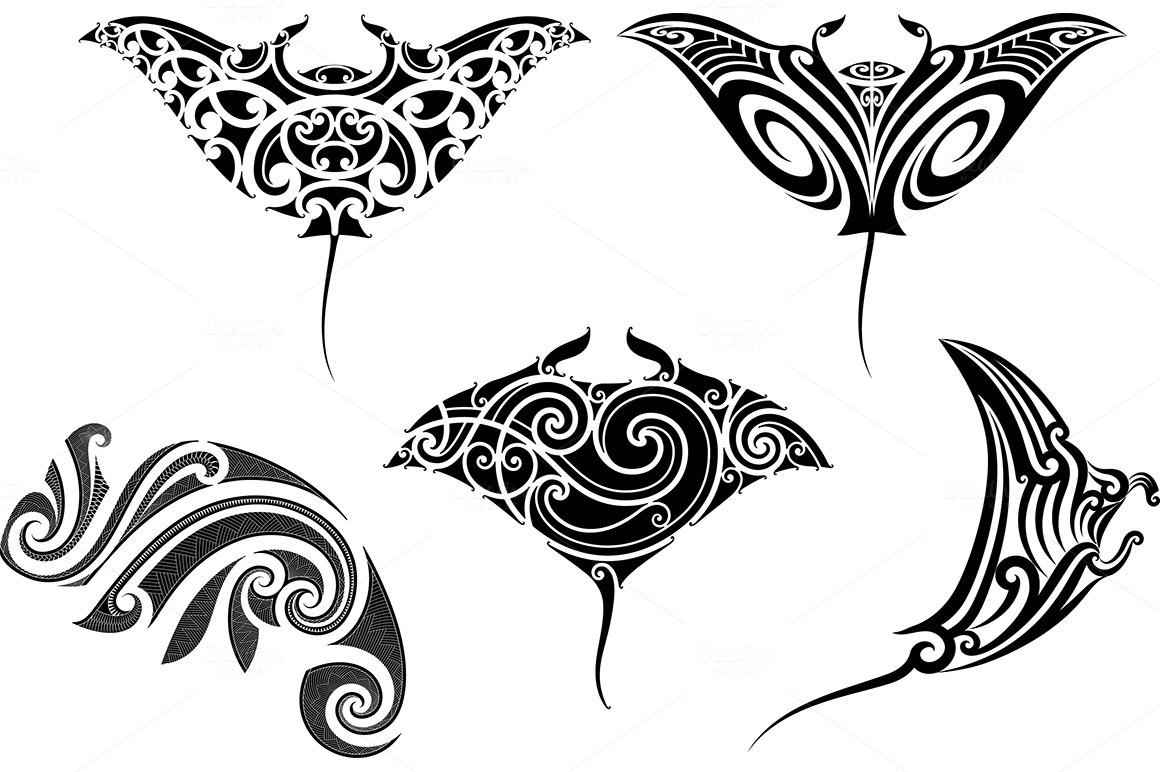 Maori tattoo patterns (5x) ~ Patterns on Creative Market