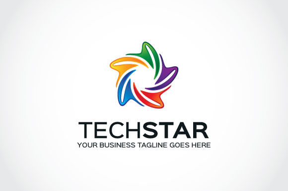 tech star logo template logo templates on creative market