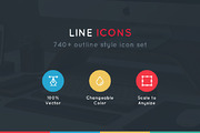 740+ Line Icons (20% off)-Graphicriver中文最全的素材分享平台