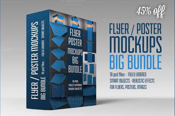Flyer Poster Mockups Big Bundle