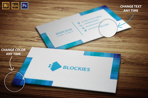 3 Colorful Business Cards