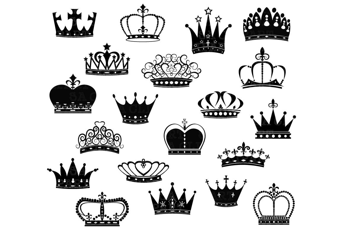 Crown Silhouette ClipArt ~ Illustrations on Creative Market