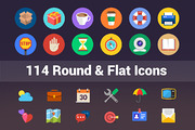 114 Round And Flat Icons-Graphicriver中文最全的素材分享平台