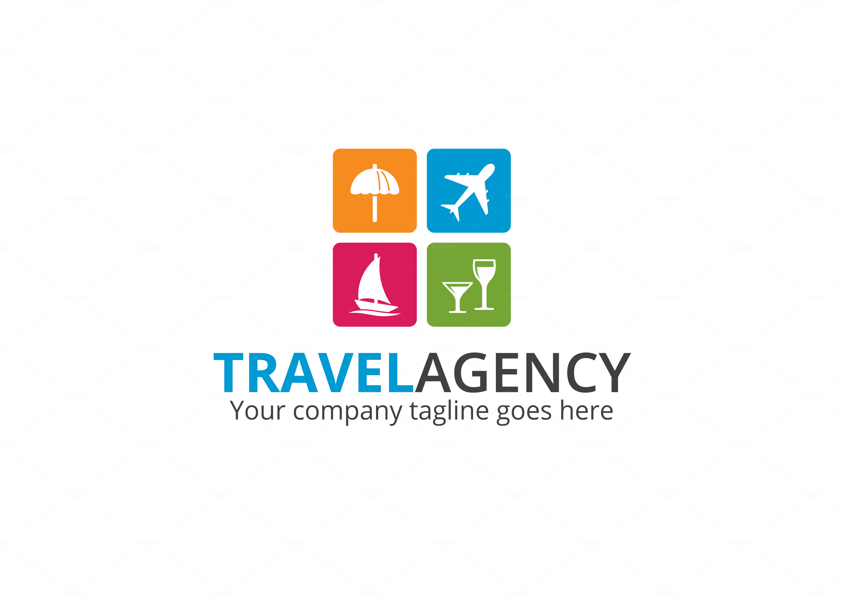 Creative Travel Agency Logos Travel Agency Logo Logo