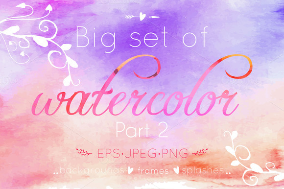 Watercolor big set. Part 2 - Textures