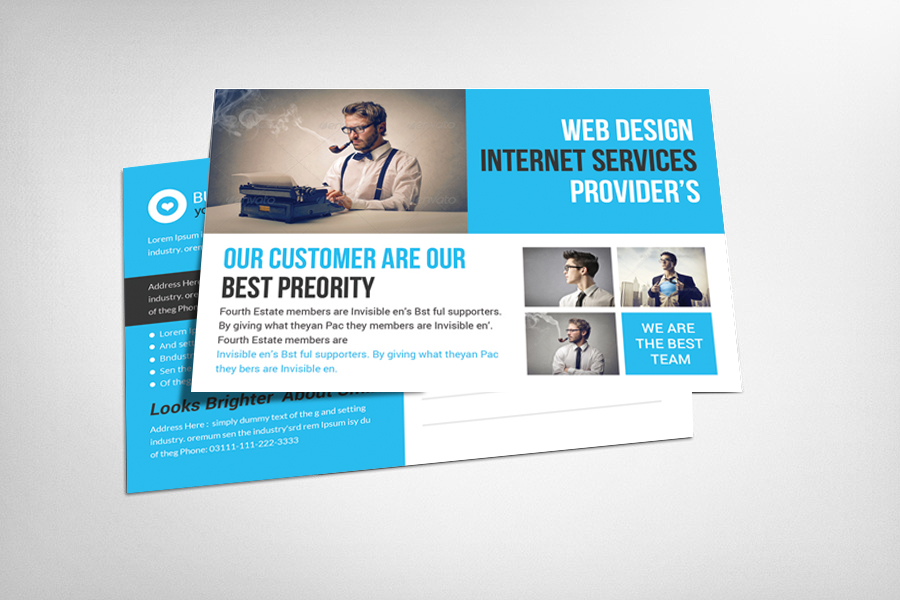 Business solution postcard template card templates on for Postcard business cards