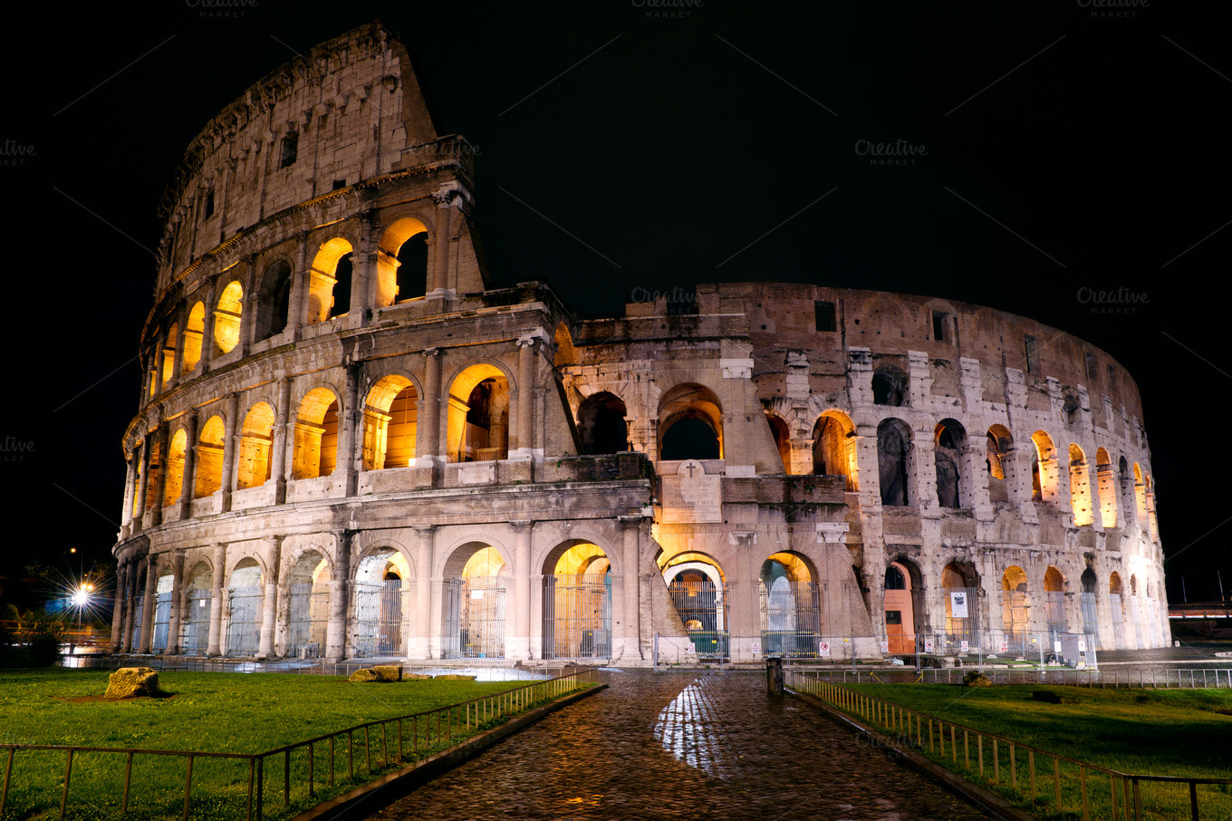 Colosseum at night, Rome ~ Architecture Photos on Creative ...
