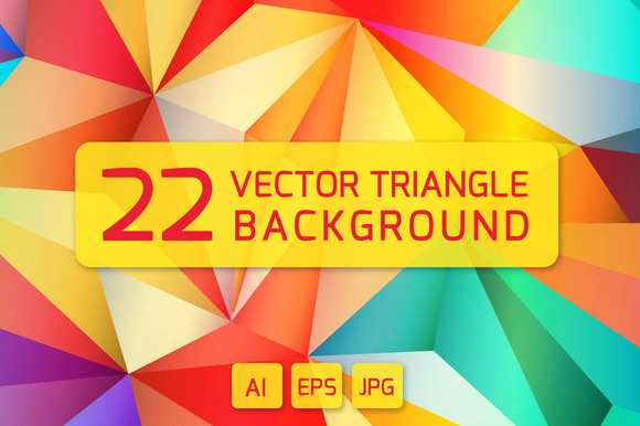 22 VECTOR TRIANGLE BACKGROUNDS