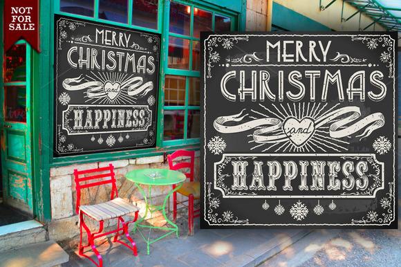 Merry Christmas Vintage Blackboard