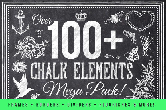 100 Chalk Elements Mega Bundle