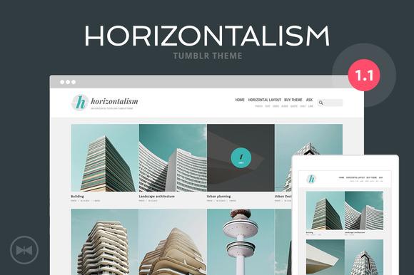 Horizontalism Tumblr Theme - Tumblr - 1
