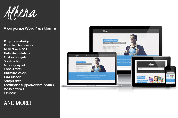 Alhena Corporate WordPress theme