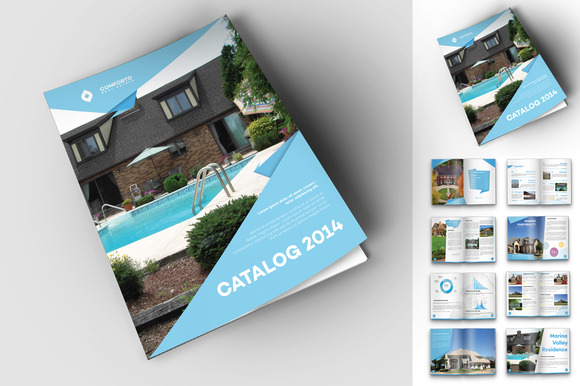 Origami real estate travel catalog magazine templates on Free home design catalogs