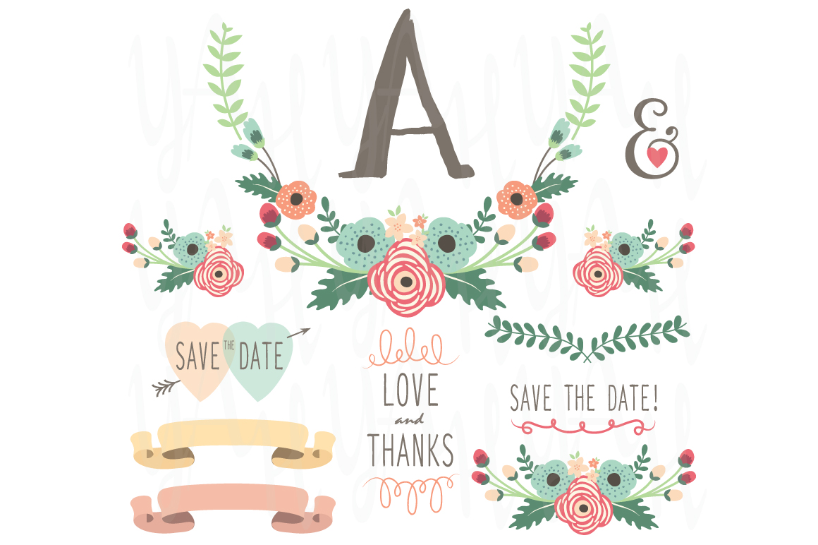 flower monogram table card