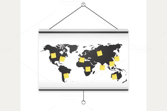 Projector Screen Map